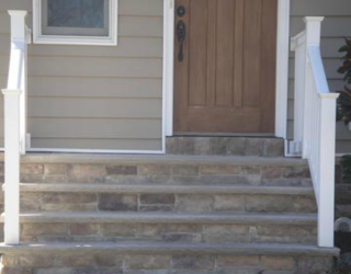 stairway made of cultured stone