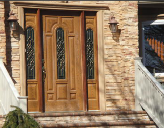cultured stone house front