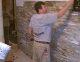 stone wall installation residential