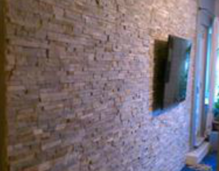 residential decorative stone wall inside of house