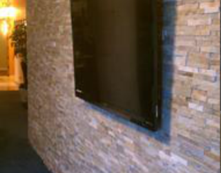 decorative cultured stone wall in house