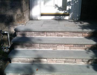 stone and concrete stairway