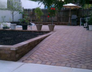 back yard pavers driveway masonry by tonys masonry
