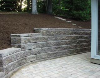 stone wall lining