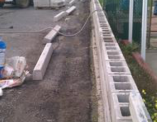 cement wall installation