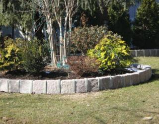 garden stone wall installment