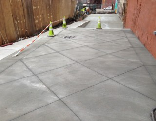 all concrete walkway