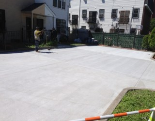 all concrete new driveway