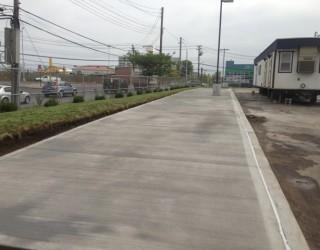 all concrete near commercial building