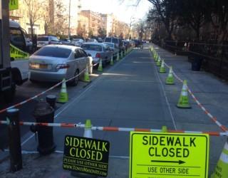 new city sidewalk paved