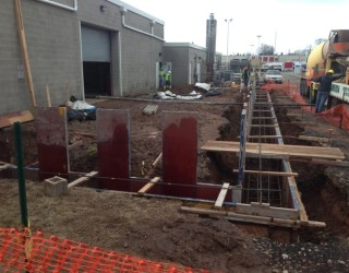 foundation being built from the ground up