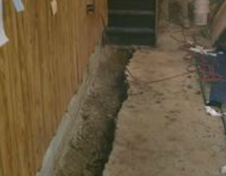 foundation repair on basement floor siding