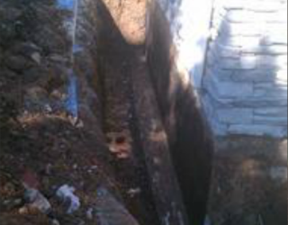 foundation repair on the side of house
