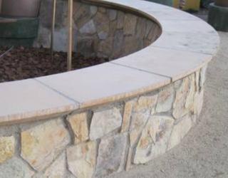 flag stone garden installation