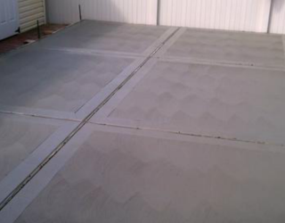 cement walkway installed by pavers